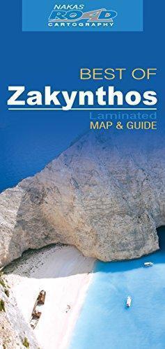 ZAKYNTHOS ZAKYNTOS laminowana mapa turystyczna ROAD EDITIONS 2019