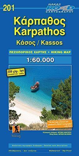 KARPATHOS I KASOS mapa turystyczna 1:60 000 ROAD EDITIONS