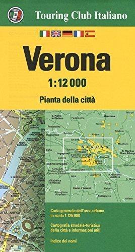 VERONA WERONA wodoodporny plan miasta 1:12 000 TOURING EDITORE