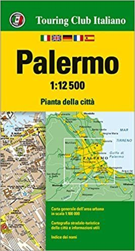 PALERMO wodoodporny plan miasta 1:12 500 TOURING EDITORE
