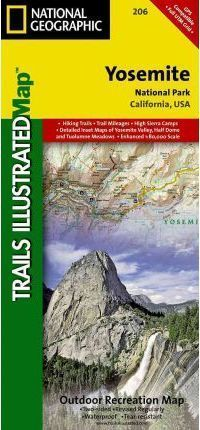 YOSEMITE National Park mapa wodoodporna NATIONAL GEOGRAPHIC