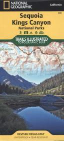 SEQUOIA & KINGS CANYON National Park mapa wodoodporna NATIONAL GEOGRAPHIC