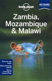 ZAMBIA MOZAMBIK I MALAWI przewodnik  LONELY PLANET