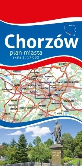 CHORZÓW plan miasta 1:17 000 PLAN