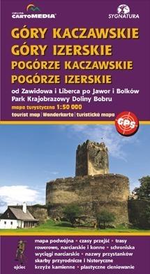 GÓRY KACZAWSKIE I IZERSKIE POGÓRZE KACZAWSKIE I IZERSKIE mapa turystyczna SYGNATURA