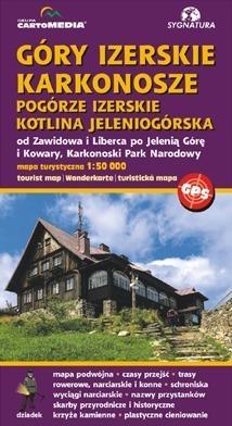 GÓRY IZERSKIE KARKONOSZE POGÓRZE IZERSKIE KOTLINA JELENIOGÓRSKA mapa turystyczna CARTOMEDIA 2017