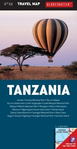 TANZANIA mapa 1:1 900 000 NEW HOLLAND PUBLISHERS