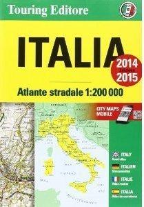 WŁOCHY atlas samochodowy 1:200 000 TOURING EDITORE 2014