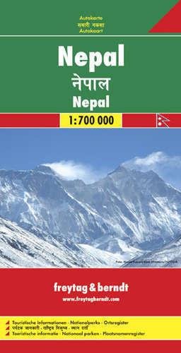 NEPAL mapa samochodowa 1:700 000 FREYTAG & BERNDT