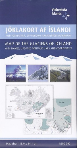 LODOWCE ISLANDII mapa 1:500 000 FREDAKORT