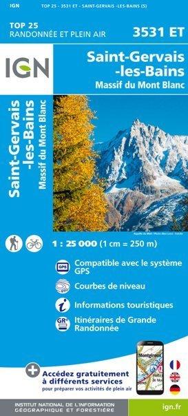 St-Gervais-Les-Bains / Massif du Mont Blanc 3531ET mapa 1:25 000 IGN