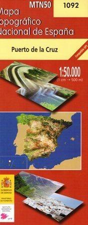 PUERTO DE LA CRUZ mapa topograficzna 1:50 000 CNDIG 1092