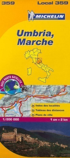 UMBRIA MARCHE mapa samochodowa 1:200 000  MICHELIN
