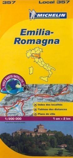 357 EMILIA ROMANIA mapa samochodowa 1:200 000  MICHELIN