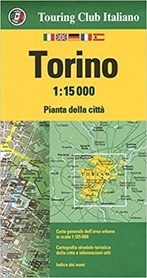 TURYN wodoodporny plan miasta 1:15 000 TOURING EDITORE
