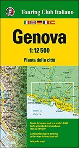 GENOVA GENUA wodoodporny plan miasta 1:12 500 TOURING EDITORE 2017