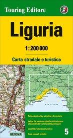 LIGURIA mapa samochodowa 1:200 000 TOURING EDITORE