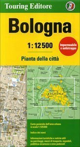 BOLONIA BOLOGNA wodoodporny plan miasta 1:12 500 TOURING EDITORE