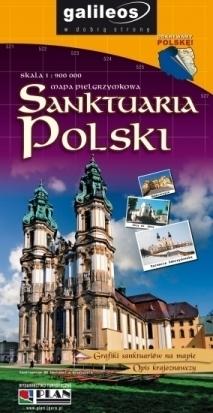 SANKTUARIA POLSKI mapa pielgrzymkowa 1:900 000 PLAN