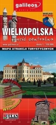 WIELKOPOLSKA cz. centralna / Okolice Poznania mapa atrakcji turystycznych 1:120 000 PLAN 2014