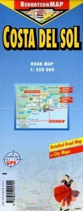 COSTA DEL SOL mapa laminowana 1:250 000 BERNDTSONMAP