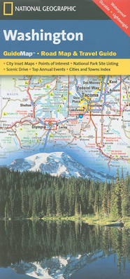 WASHINGTON mapa wodoodporna National Geographic - USA
