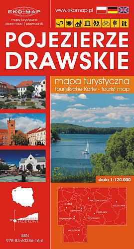 POJEZIERZE DRAWSKIE mapa turystyczna 1:120 000 EKOMAP