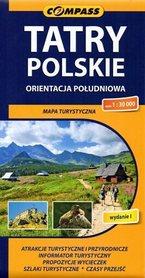 TATRY POLSKIE ORIENTACJA POŁUDNIOWA mapa turystyczna 1:30 000 COMPASS