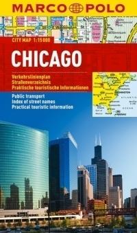 CHICAGO laminowany plan miasta 1:15 000 MARCO POLO