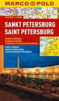 SANKT PETERSBURG laminowany plan miasta 1:15 000 MARCO POLO