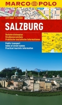 SALZBURG laminowany plan miasta 1:15 000 MARCO POLO