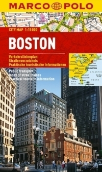 BOSTON plan miasta laminowany 1:15 000 MARCO POLO