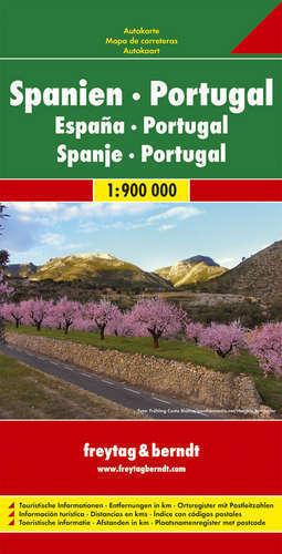 HISZPANIA PORTUGALIA mapa samochodowa 1:900 000 FREYTAG & BERNDT