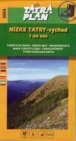 NIZNE TATRY WSCHÓD mapa turystyczna 1:50 000 TATRAPLAN
