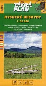 KYSUCKIE BESKIDY mapa turystyczna 1:50 000 TATRAPLAN