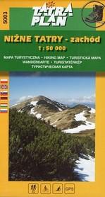 NIZNE TATRY ZACHÓD mapa turystyczna 1:50 000 TATRAPLAN