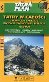 TATRY W CAŁOŚCI mapa turystyczna 1:50 000 TATRAPLAN