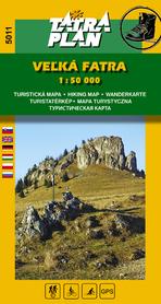 WIELKA FATRA mapa turystyczna 1:50 000 TATRAPLAN