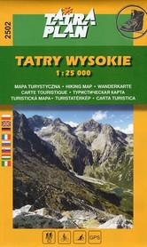 TATRY WYSOKIE mapa turystyczna 1:25 000 TATRAPLAN