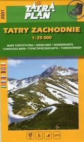 TATRY ZACHODNIE mapa turystyczna 1:25 000 TATRAPLAN