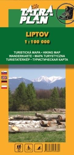 LIPTÓW mapa turystyczna 1:100 000 TATRAPLAN