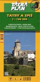 TATRY I SPISZ mapa turystyczna 1:100 000 TATRAPLAN