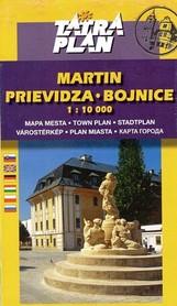 MARTIN PRIEVIDZA BOJNICE plan miasta 1:10 000 TATRAPLAN