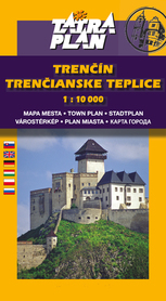 TRENCIN, TRENCIANSKE TEPLICE plan miasta 1:10 000 TATRAPLAN