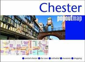 CHESTER mapa/ plan miasta PopOut Maps