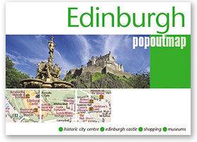 EDYNBURG EDINBURGH mapa/ plan miasta PopOut Maps