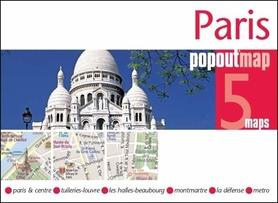 PARYŻ PARIS mapa/ plan miasta PopOut Maps