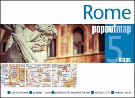 RZYM ROME mapa/ plan miasta PopOut Maps