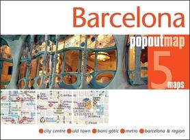 BARCELONA mapa/ plan miasta PopOut Maps