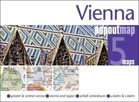 WIEDEŃ VIENNA mapa/ plan miasta PopOut Map